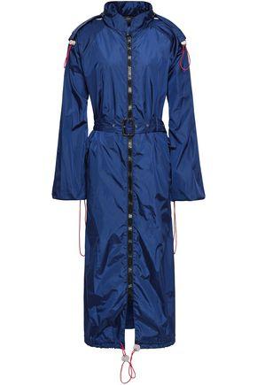 JOSEPH ベルト付き シェル加工生地 フード付きジャケット