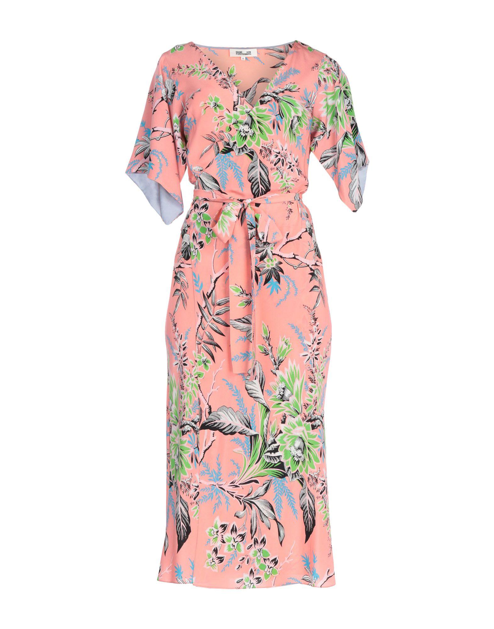 DIANE VON FURSTENBERG Платье длиной 3/4 diane von furstenberg платье миди с цветочным принтом