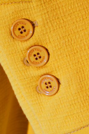 NINA RICCI Textured cotton-blend coat