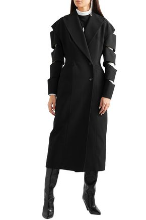 CHRISTOPHER KANE Double-breasted cutout crepe coat