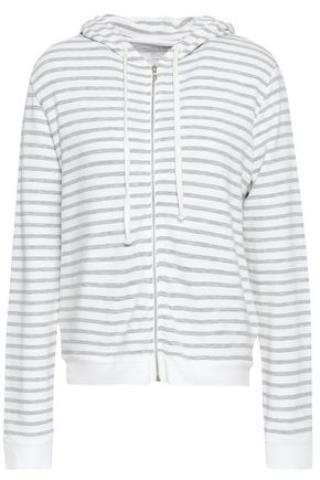MAJESTIC FILATURES Striped French terry hoodie