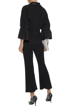 ROKSANDA Elpey satin-trimmed woven-paneled cady jacket