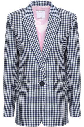 SANDRO Checked cotton-jacquard blazer
