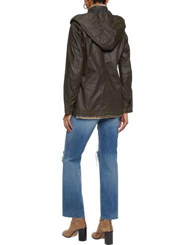 Фото 2 - Женскую куртку  темно-зеленого цвета