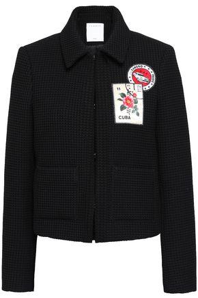 SANDRO Appliquéd jacquard jacket