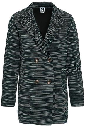 M MISSONI Double-breasted crochet-knit blazer