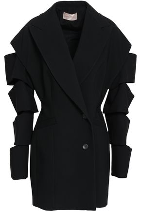 CHRISTOPHER KANE Double-breasted cutout crepe blazer