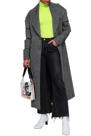 CHRISTOPHER KANE Sliced herringbone wool-blend coat