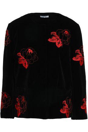 GANNI Embellished velvet jacket