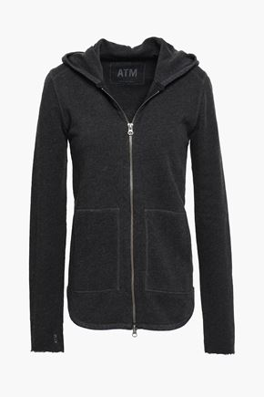 ATM ANTHONY THOMAS MELILLO Mélange French cotton-blend terry hooded jacket