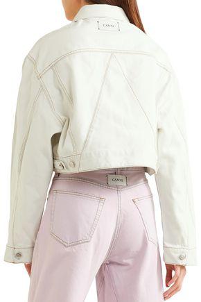 GANNI Piped velvet jacket