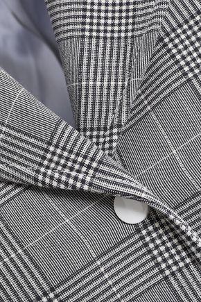 GANNI Garvey Prince of Wales checked jacquard blazer