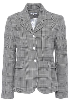 GANNI Garvey Prince of Wales checked jacquard blazer
