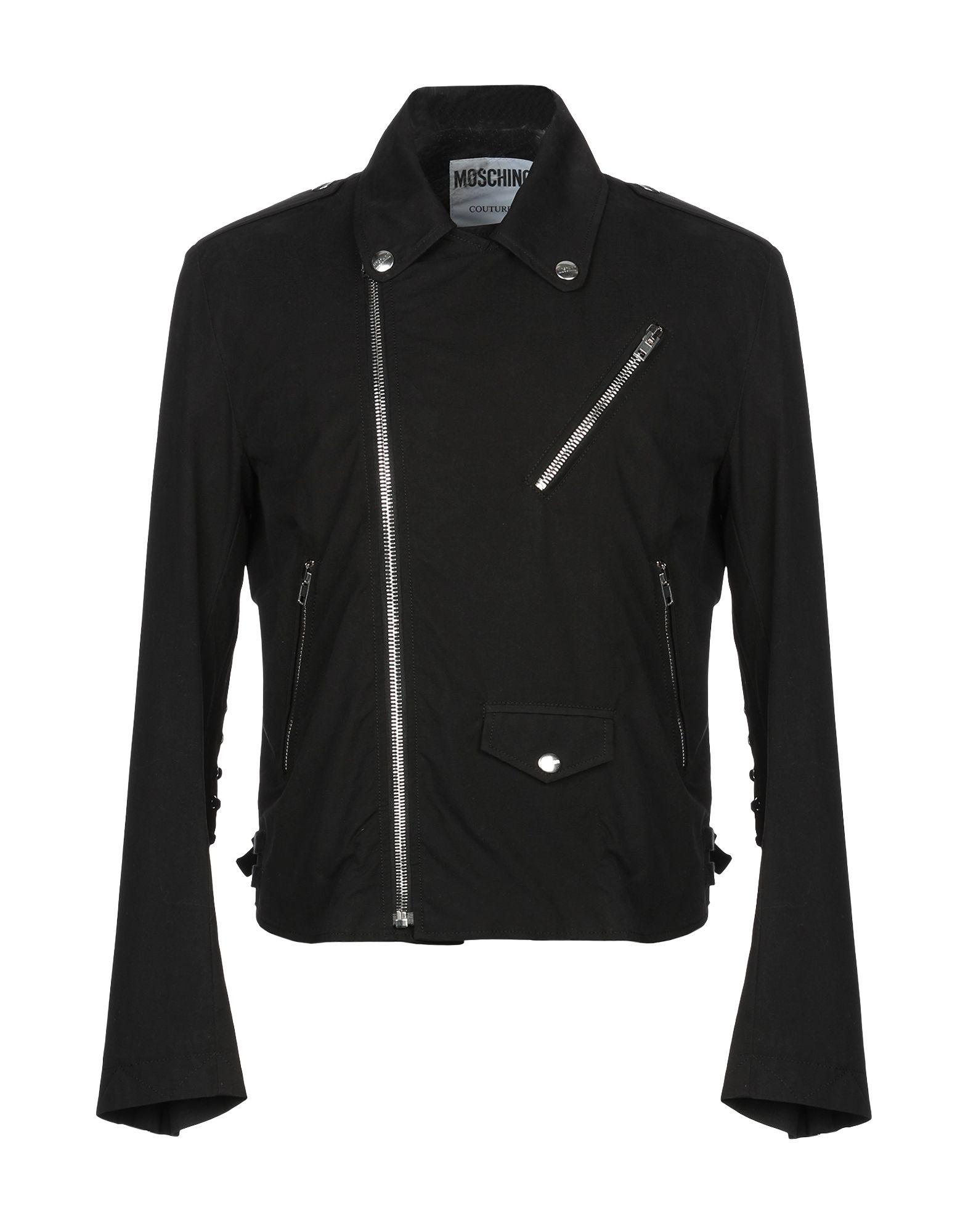 MOSCHINO Куртка двуцетная кожаная куртка косуха на молнии
