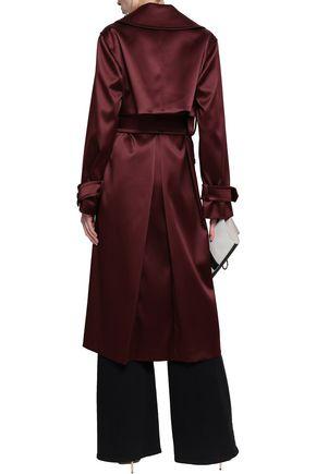 ROBERTO CAVALLI Double-breasted satin trench coat