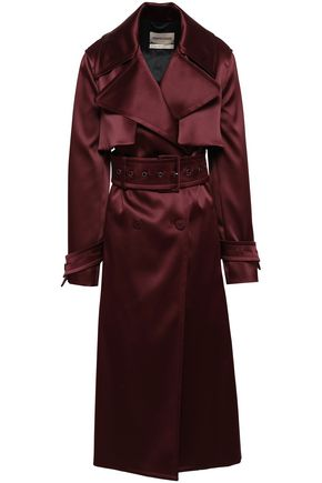 ROBERTO CAVALLI Double-breasted satin trench coat