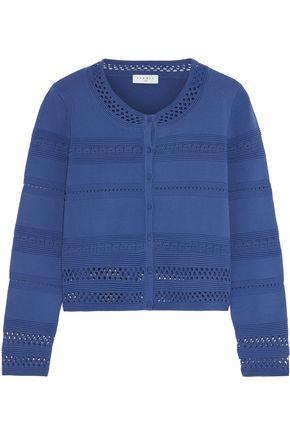 SANDRO Pointelle-knit cardigan