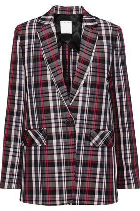 SANDRO Salima checked twill blazer