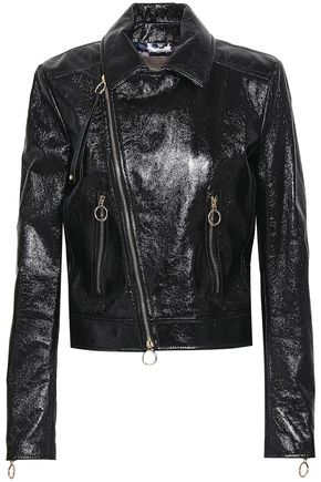 EMILIO PUCCI Patent-leather biker jacket