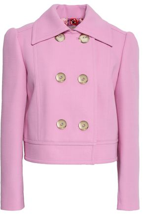EMILIO PUCCI Double-breasted cropped crepe jacket
