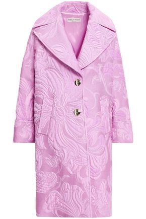 EMILIO PUCCI Cotton-blend brocade coat