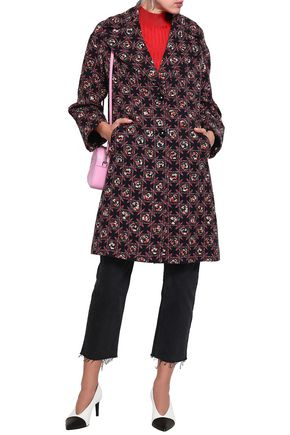 EMILIO PUCCI Floral-print wool and silk-blend coat