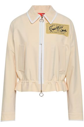 EMILIO PUCCI Appliquéd twill peplum jacket