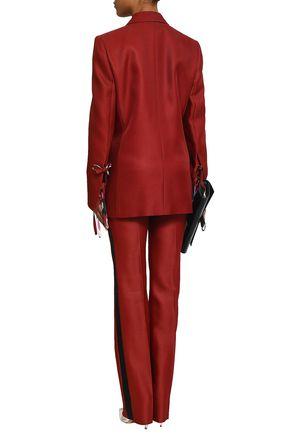 EMILIO PUCCI Bow-detailed wool and silk-blend twill blazer