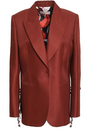 EMILIO PUCCI Bow-detailed wool and silk-blend twill blazer