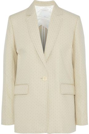 SANDRO Theora embroidered twill blazer