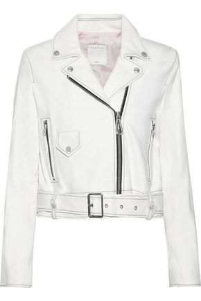 SANDRO Edwin leather biker jacket