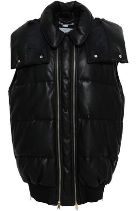 STELLA McCARTNEY Quilted faux leather hooded vest