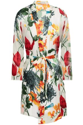 ALICE + OLIVIA Belted fil coupé robe