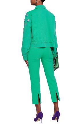EMILIO PUCCI Embellished cotton, wool and silk-blend matelassé jacket