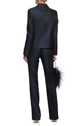 EMILIO PUCCI Satin-trimmed wool and silk-blend twill blazer