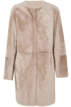 YVES SALOMON Reversible printed shearling coat