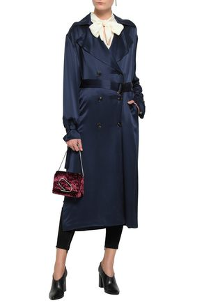 MAGDA BUTRYM Belted silk-satin trench coat