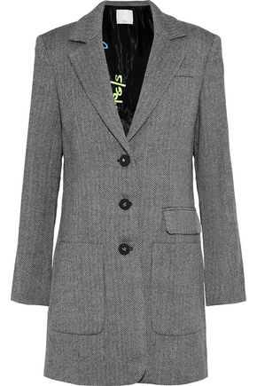 TIBI Herringbone wool coat