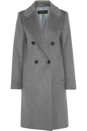 DONNA KARAN Double-breasted wool-blend felt coat
