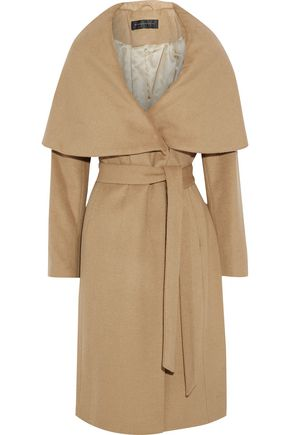 DONNA KARAN Cape-effect wool-blend felt coat