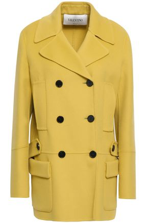 VALENTINO Double-breasted wool and cashmere-blend coat