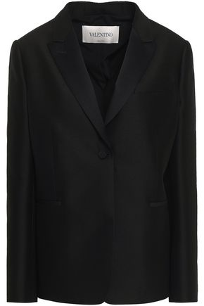 VALENTINO Wool and silk-blend crepe blazer