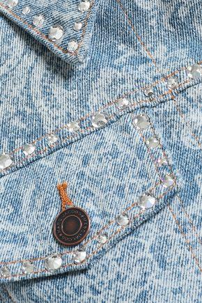 MARC JACOBS Crystal-embellished printed denim jacket