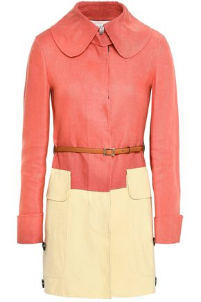 VALENTINO Two-tone linen-canvas coat