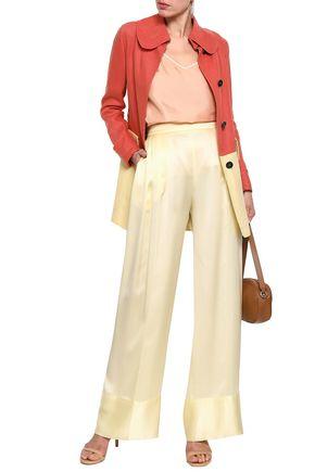 VALENTINO Two-tone linen-canvas coat