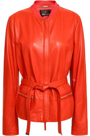 ROBERTO CAVALLI Belted leather jacket