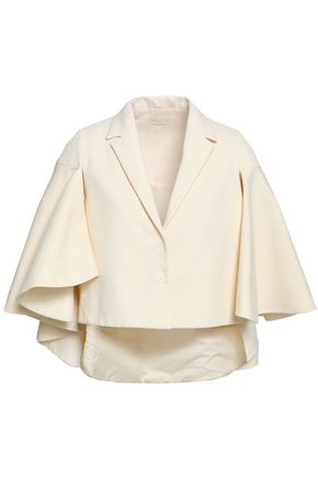 DELPOZO Cape-effect cotton-jacquard jacket
