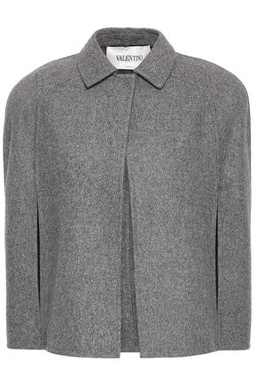VALENTINO Mélange wool-blend felt cape
