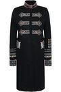 VALENTINO Bead-embellished cotton-gabardine coat