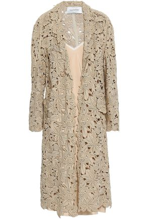 VALENTINO Cotton-blend guipure lace dress